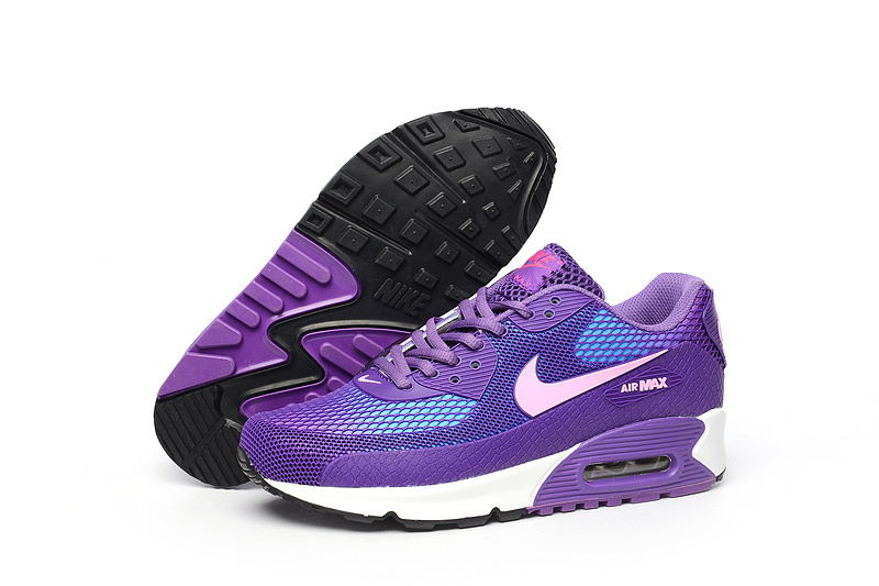 Nike Air Max 90 Purple Blue White Women Running Shoes