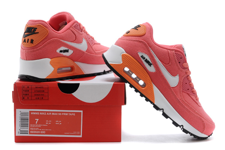 Nike Air Max 90 Red White Women Running Shoes