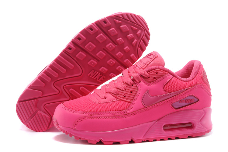 Nike Air Max 90 Women Bold Red Running Shoes