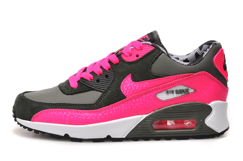Nike Air Max 90 Women Red Black Grey Running Shoes