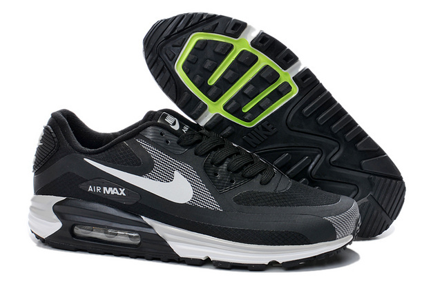Nike Air Max 90 25th Black White Men Running Shoes