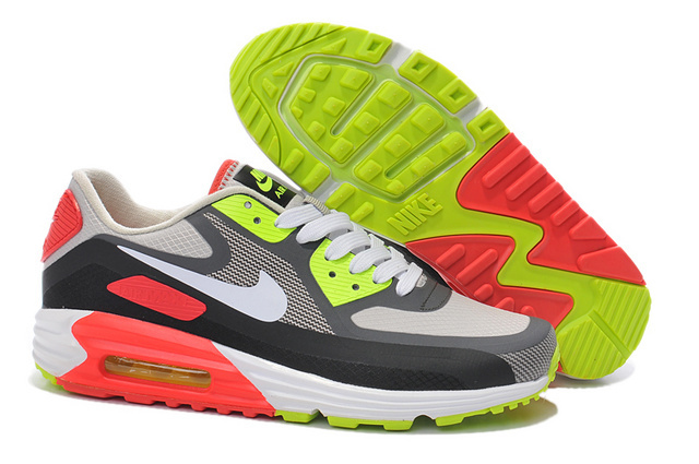 Nike Air Max 90 25th Men Black Green Red White Running Shoes