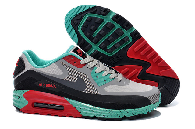 Nike Air Max 90 25th Men Blue Black Red Grey Running Shoes