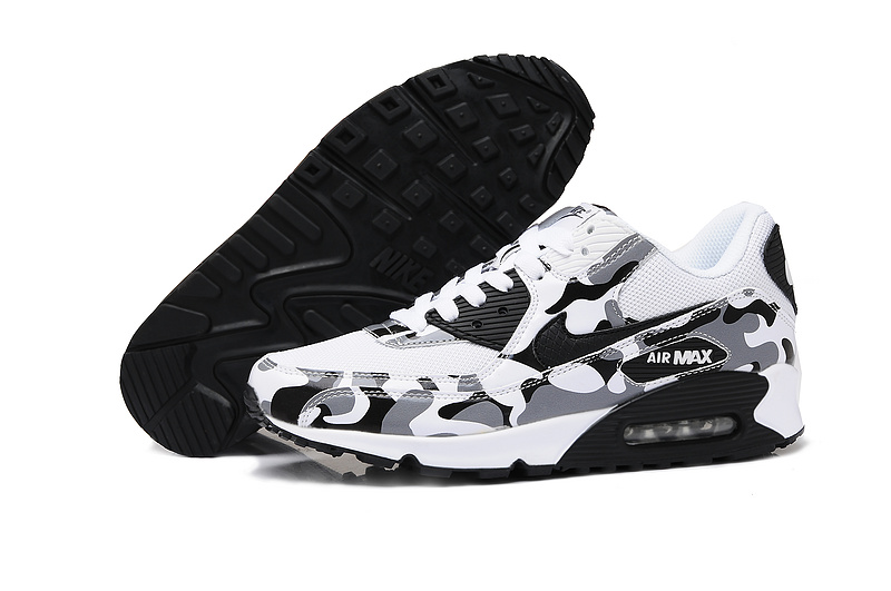 Nike Air Max Black White Camo Lovers Running Shoes