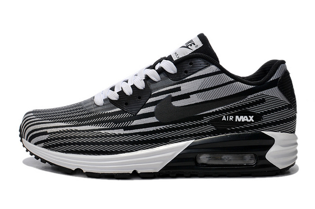 Nike Air Max Lunar 90 Jacquard Grey Black Men Running Shoes