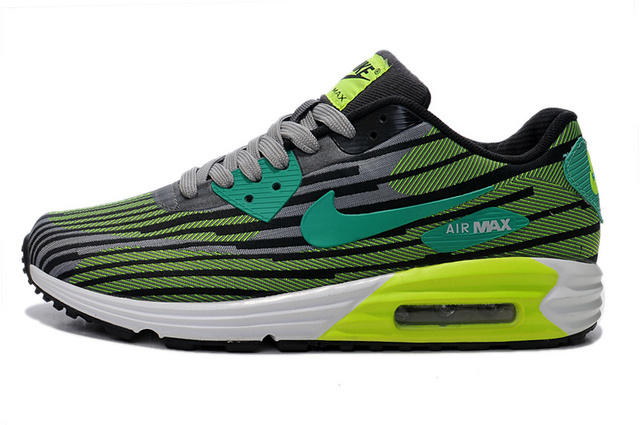 Nike Air Max Lunar 90 Jacquard Grey Green Men Running Shoes