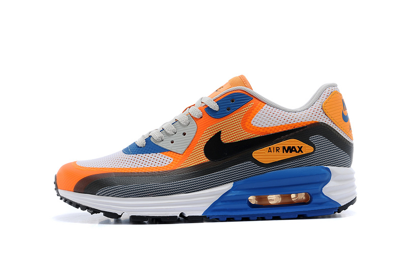 Nike Air Max Mesh Cushion Men Orange Black Blue White Running Shoes