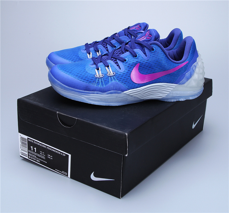 look for 9a906 0a7aa 2016 Nike Air Zoom Kobe Venomenon 5 Hyperfuse Blue Purple Sneaker
