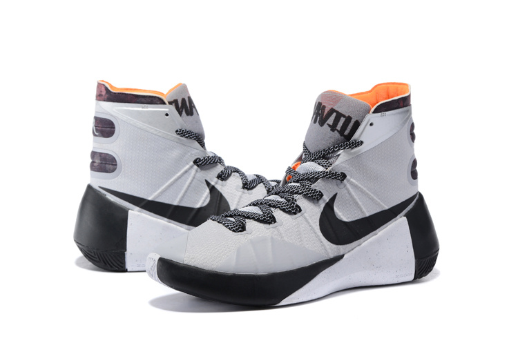 New 2015 Nike Hyperdunk White Black Orange Sneaker
