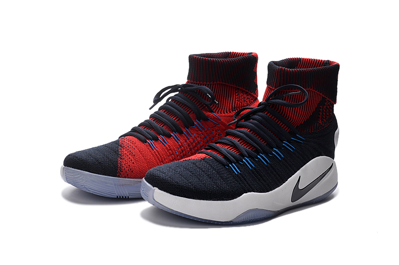 Hyperdunk Flyknit Blue Red Basketabll Shoes For Sale