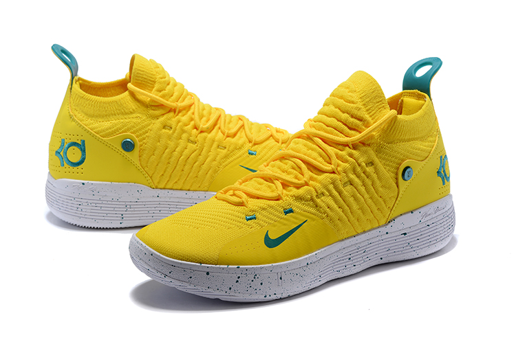 2018 KD 11 EP Bright Yellow Storm Shoes For Sale