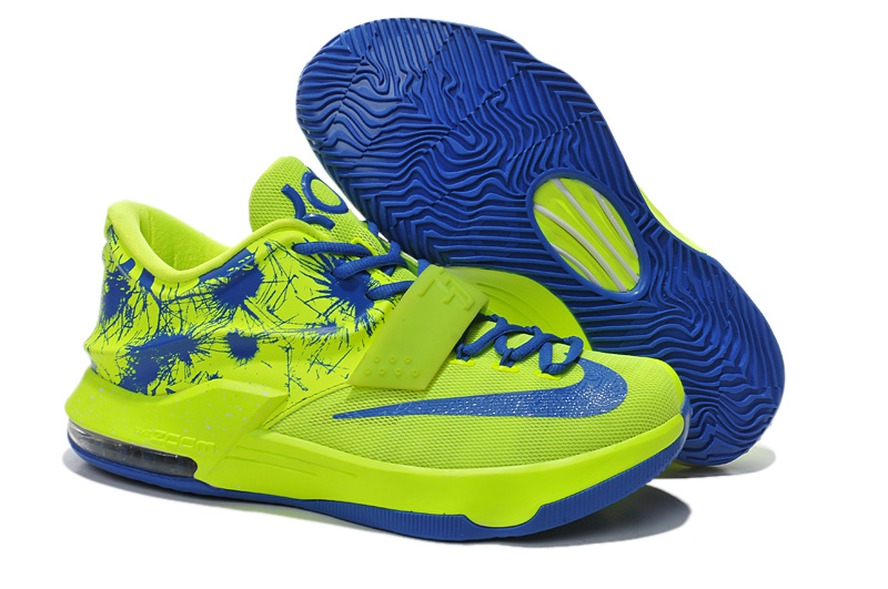 Nike KD 7 Classic Green Blue Basketball Shoes