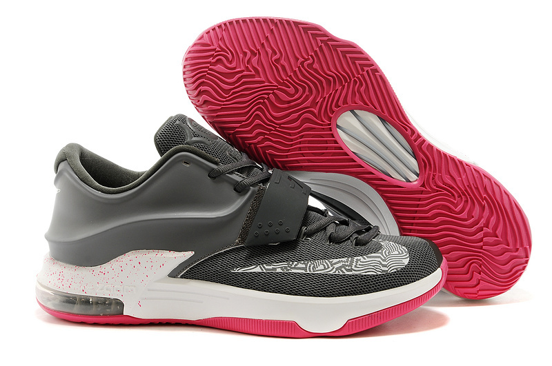 Nike KD 7 N7 Grey White Red Basketball Shoes