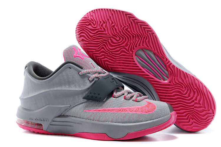 Nike KD 7 New Grey Pink Basketball Shoes