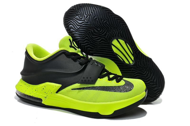 Nike KD 7 Original Black Fluorscent Green Basketball Shoes