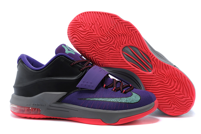 Nike KD 7 Putple Black Grey Red Basketball Shoes