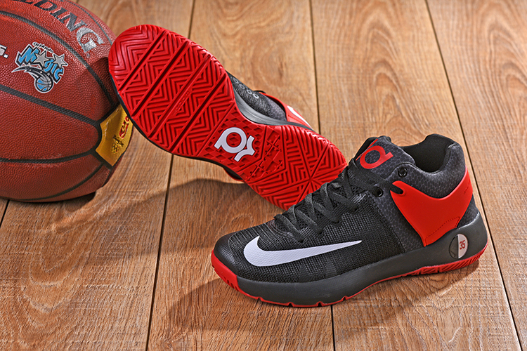 2018 KD Trey 5 Black Red White Shoes For Sale