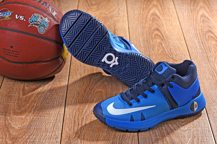 2018 KD Trey 5 Blue Jade Black Shoes For Sale