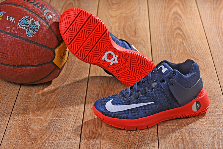 2018 KD Trey 5 Dark Blue Red Shoes For Sale