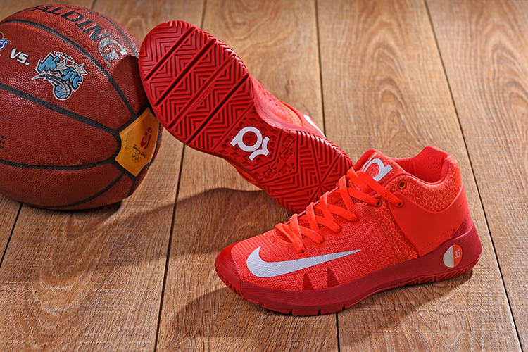 2018 KD Trey 5 Orange Red Shoes For Sale