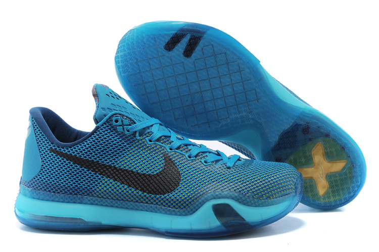 Nike Kobe 10 Classic Blue Black Basketball Shoes
