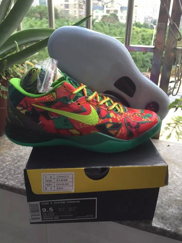 New Nike Kobe 8 Mandarin Duck Colorful Sneaker