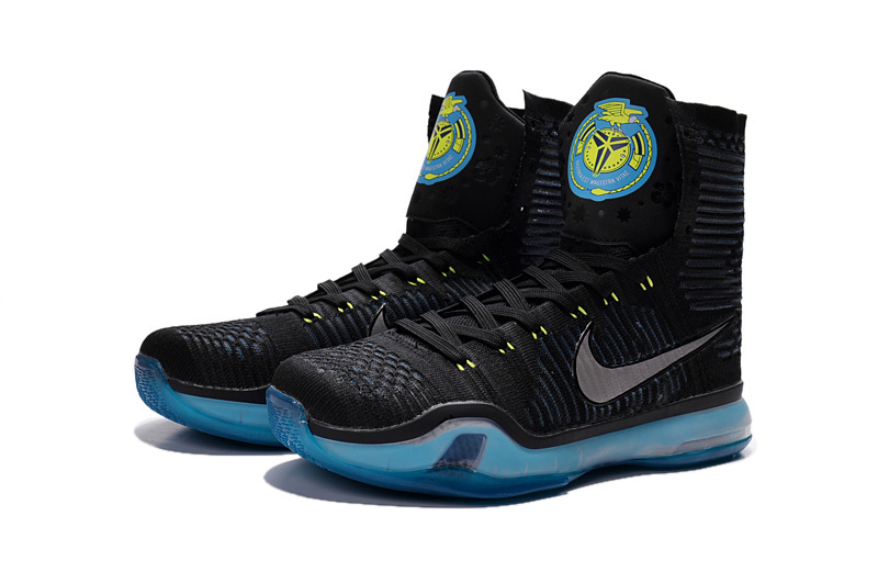 New Nike Kobe Bryant 10 Elite High Obama Black Blue Sneaker