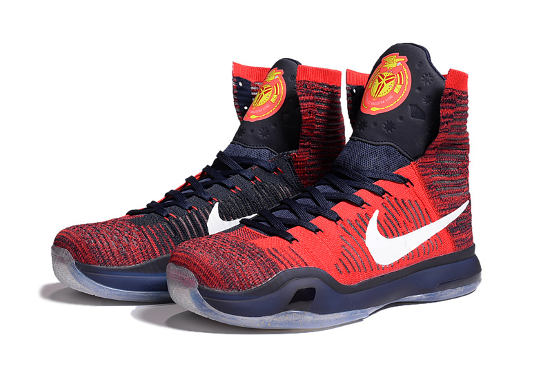 2016 Nike Kobe 10 High America Red Dark Blue Sneaker