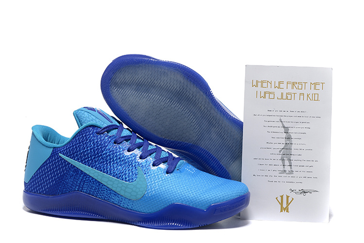 New Nike Kobe 11 All Blue Sneaker