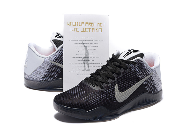 New Nike Kobe 11 Black White Sneaker