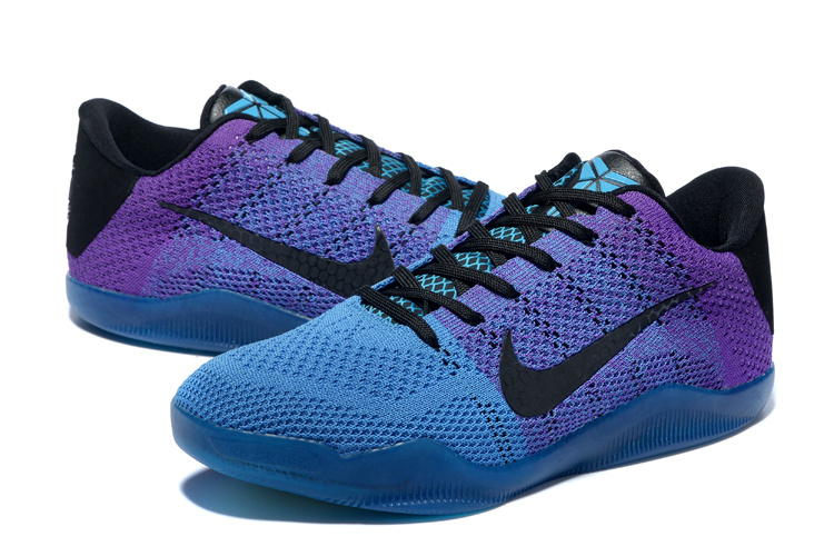 New Nike Kobe 11 Knit Blue Purple Black Sneaker