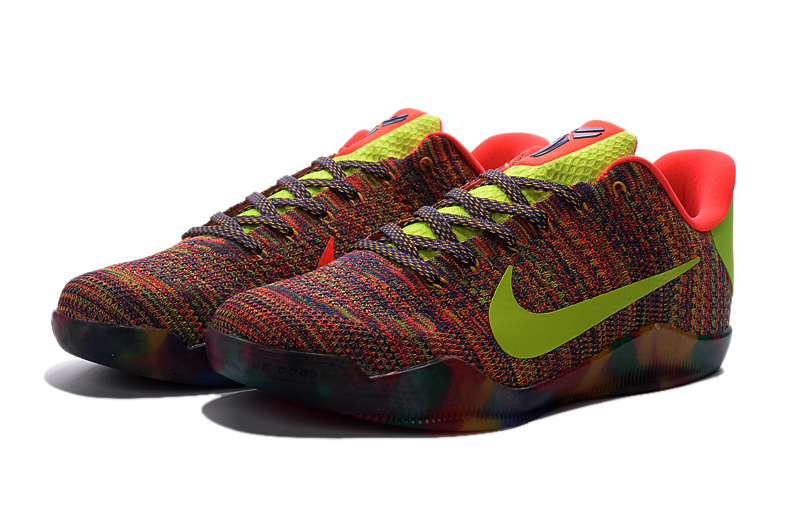 Nike Kobe 11 Knit Colorful Sneaker For Sale