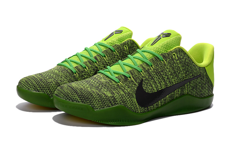 Nike Kobe 11 Knit Grass Green Black Basketabll Shoes