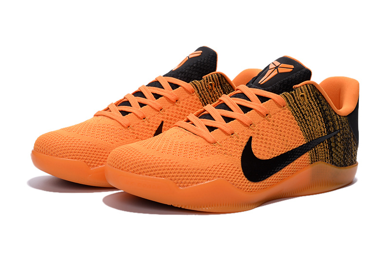 New Nike Kobe 11 Knit Orange Black For Sale