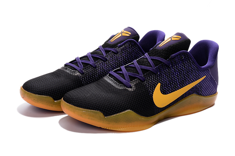 New Nike Kobe 11 Purple Black Yellow For Sale