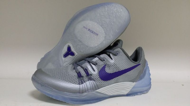 New Nike Kobe Venomenon 5 Grey Silver Purple Sneaker