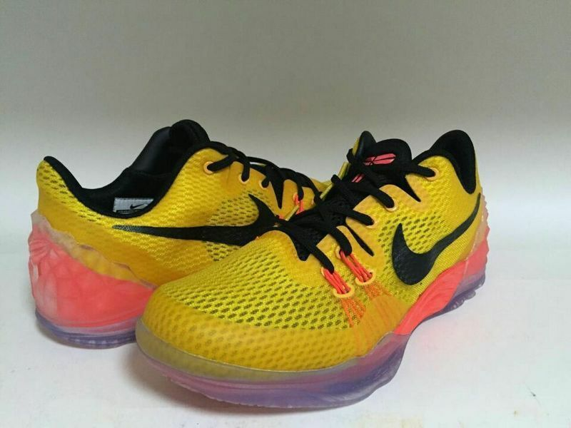 New Nike Kobe Bryant Venomenon 5 Yellow Black Orange For Sale
