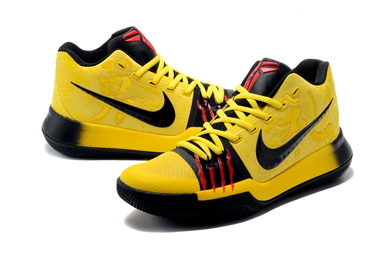 Nike Kyrie 3 Bruce Lee Yellow Black Red Shoes