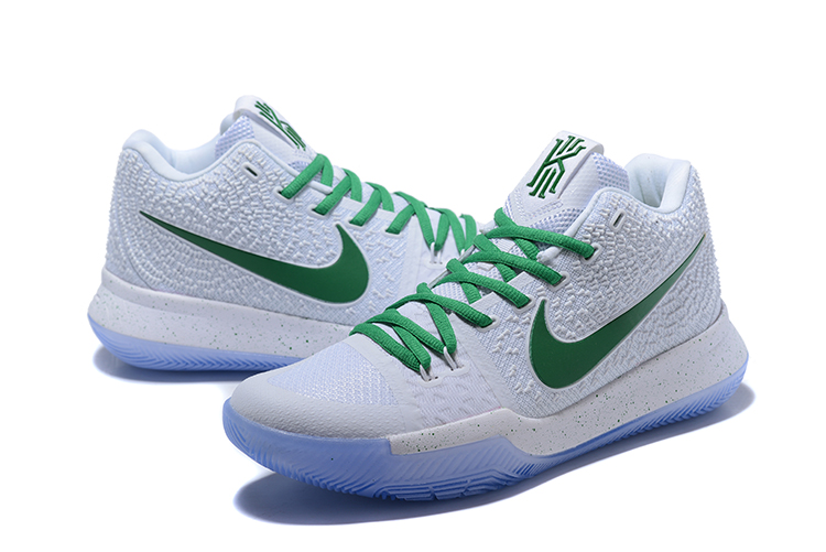 Nike Kyrie 3 White Green Glow In Dark Shoes