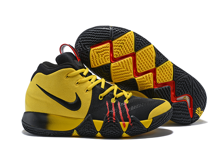 2018 Kyrie 4 Yellow Black Bruce Lee Shoes For Sale
