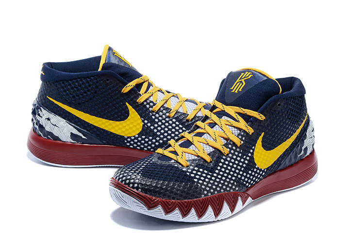 Nike Kyrie Owne Dark Blue Yellow Red White Sneaker For Sale