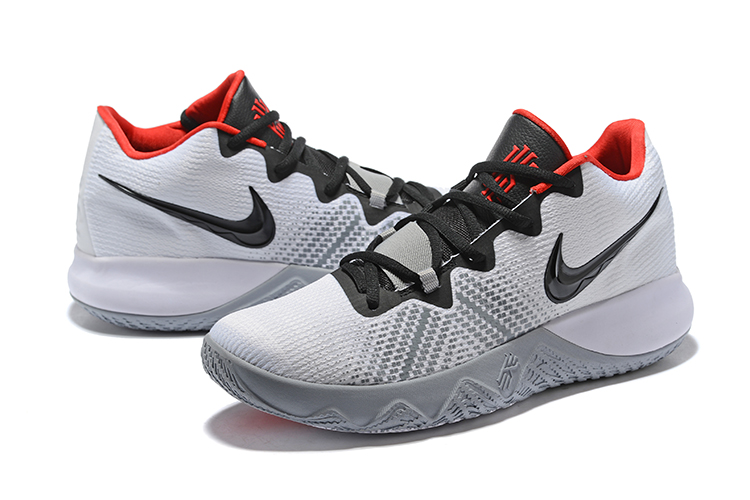 2018 Nike Kyrie S1 White Black Red Shoes For Sale