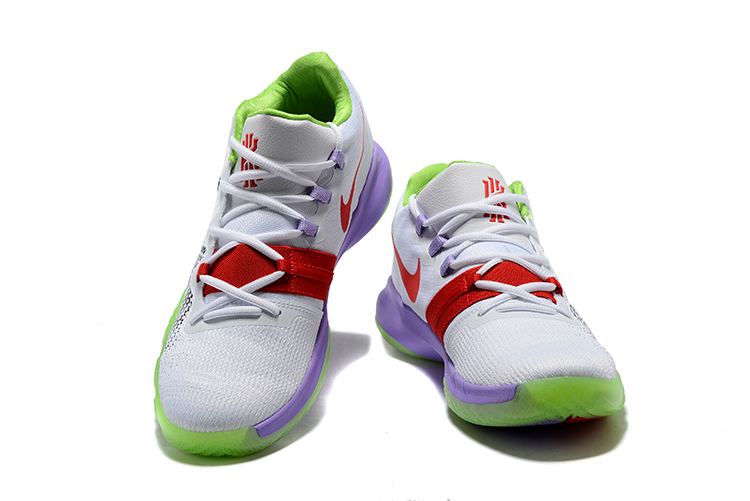 2018 Kyrie S1 White Green Purple Shoes For Sale