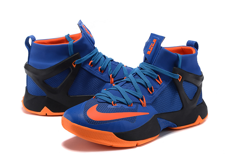 New Nike Lebron James 13 Blue Black Orange Sneaker