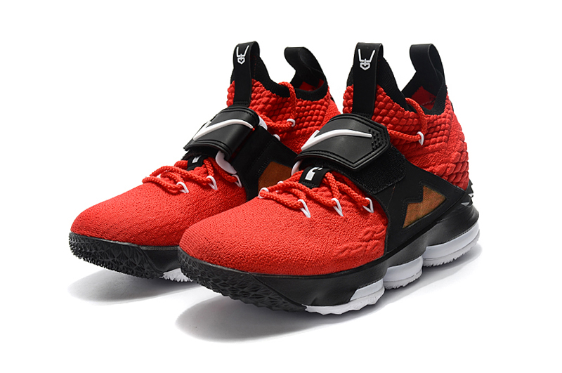 2018 Lebron 15 Red Black Gloden Shoes For Sale