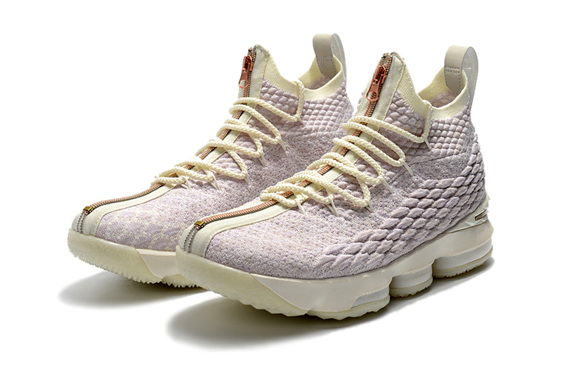 2018 Lebron 15 Rose Gloden Shoes For Sale