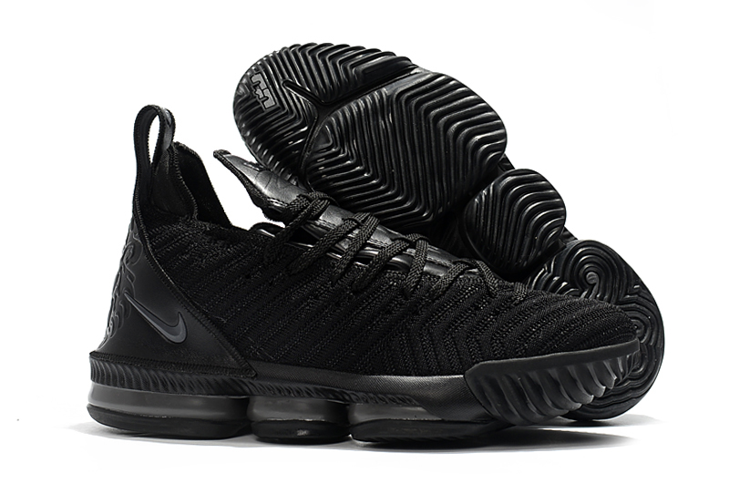 New Lebron 16 Full Palm Air Cushion Black Grey Shoes For Sale