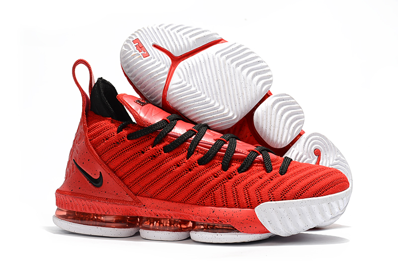 New Lebron 16 Full Palm Air Cushion Red Black White Shoes For Sale