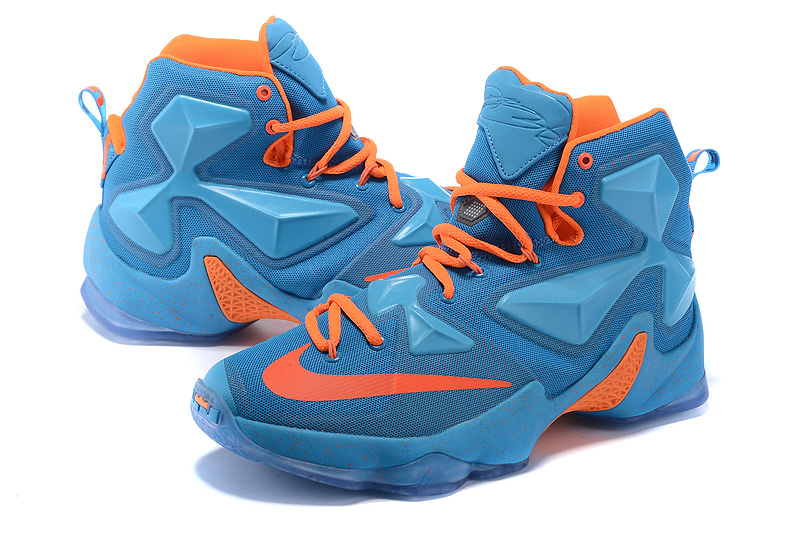 cheap for discount 09091 7aa0c ... New Nike Lebron 13 Blue Orange Sneaker For Sale ...