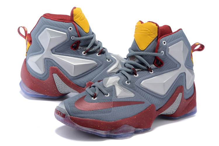 Nike Lebron 13 Cavalier Grey Red Shoes On Sale